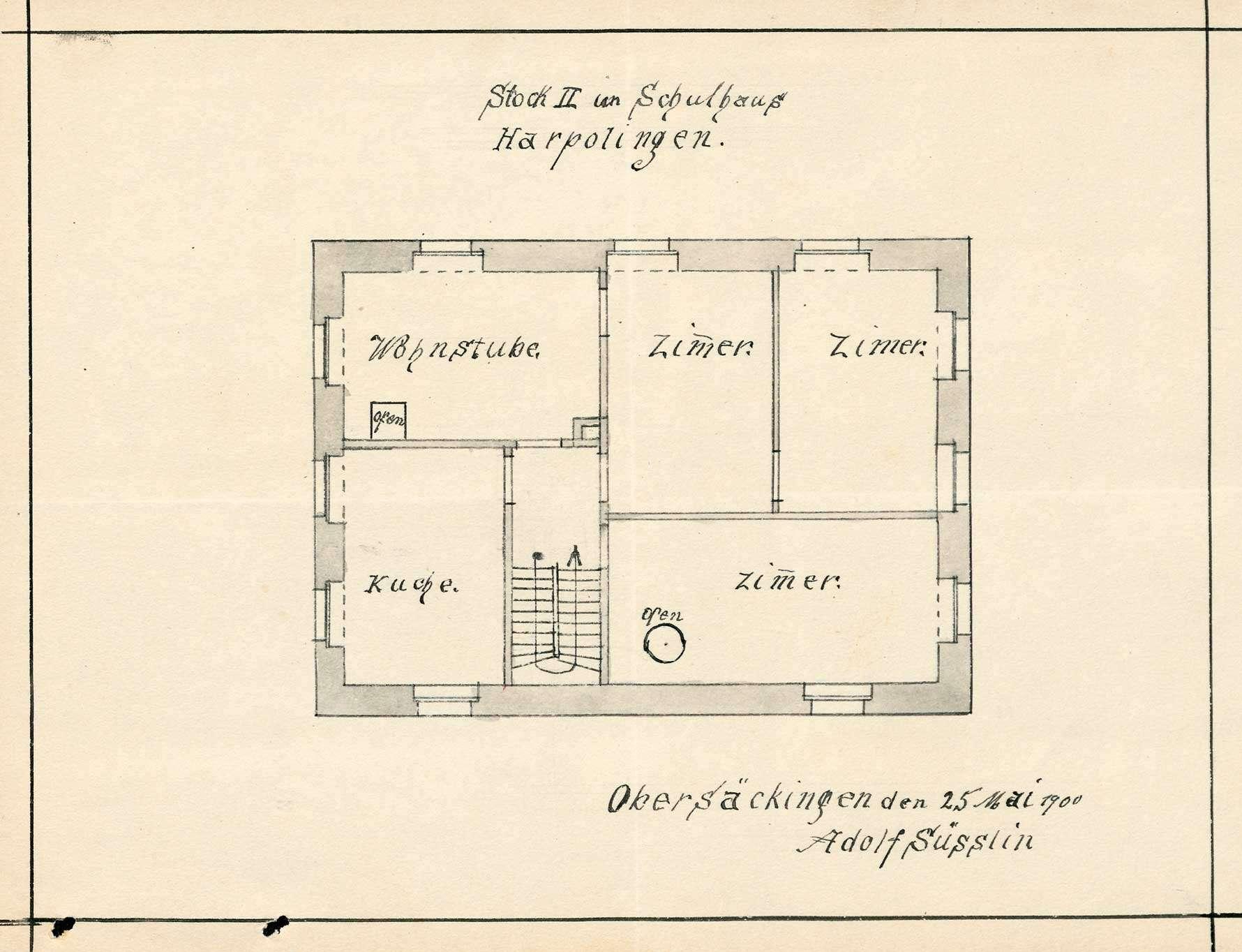 Bau und Unterhaltung des Schulhauses der Gemeinde Harpolingen, Bild 3