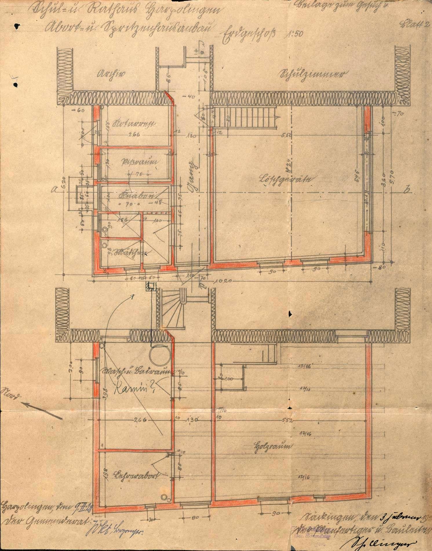 Umbau von Schulhaus und Rathaus in der Gemeinde Harpolingen, Bild 2