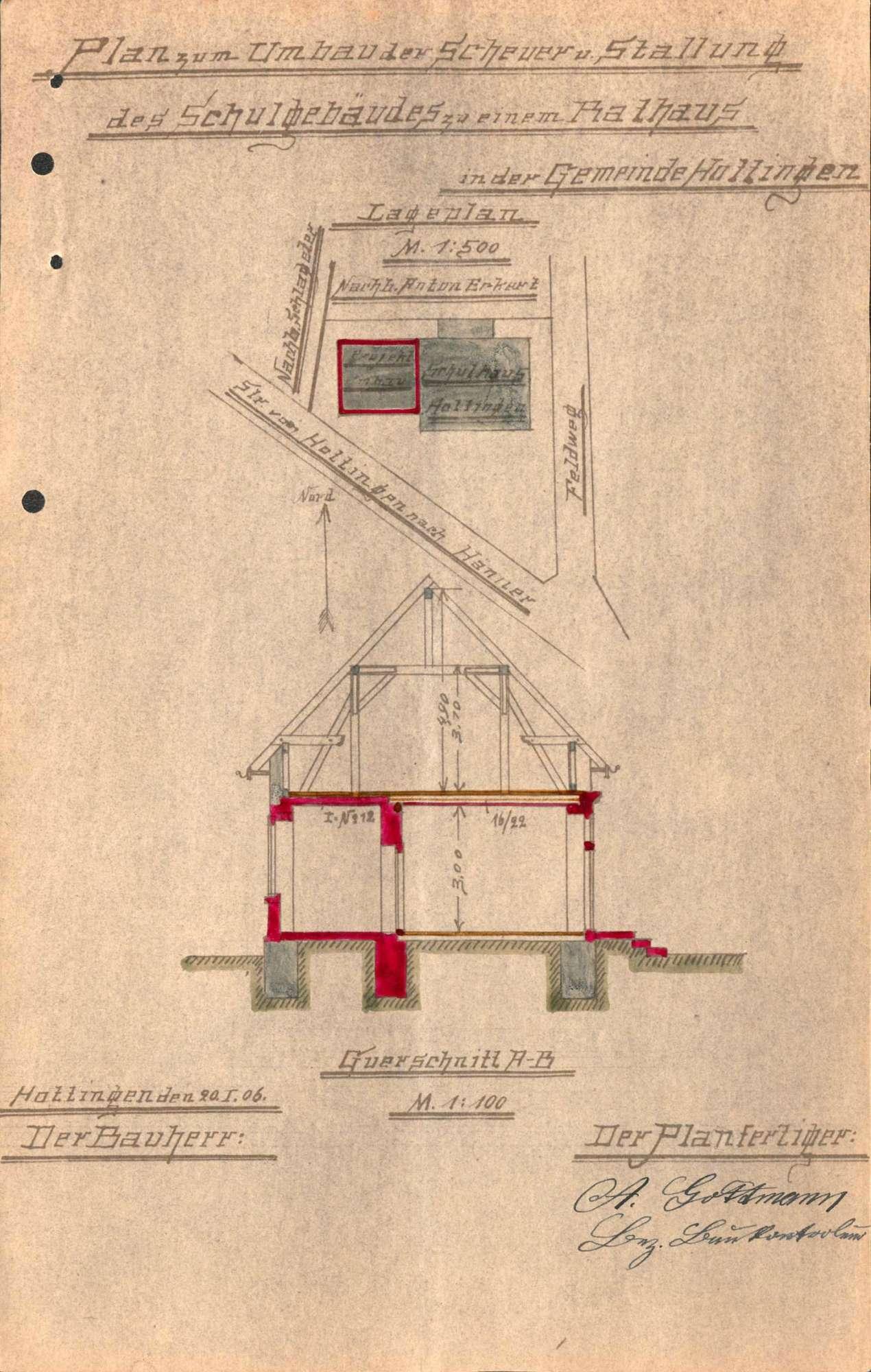 Umbau des Rathauses der Gemeinde Hottingen, Bild 1