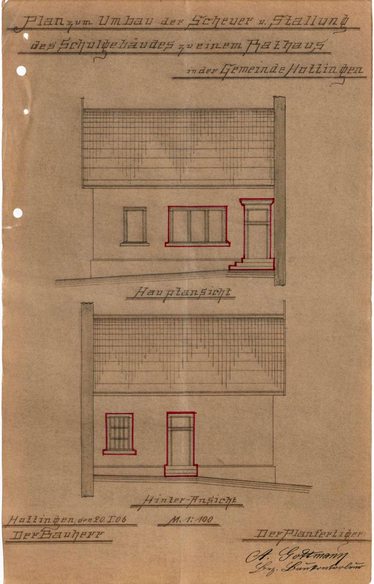 Umbau des Rathauses der Gemeinde Hottingen, Bild 3