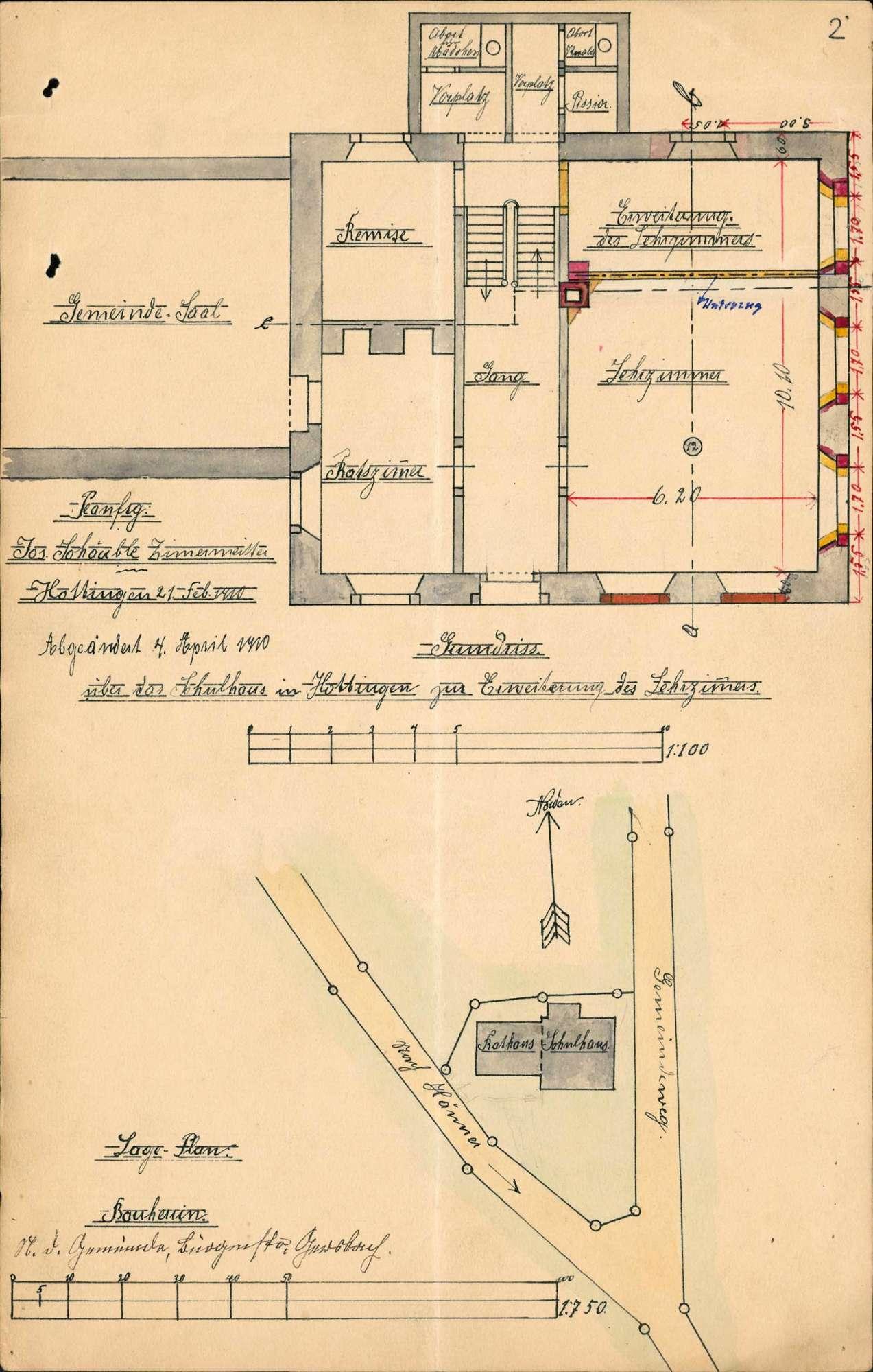 Bau und Unterhaltung des Schulhauses der Gemeinde Hottingen, Bild 2