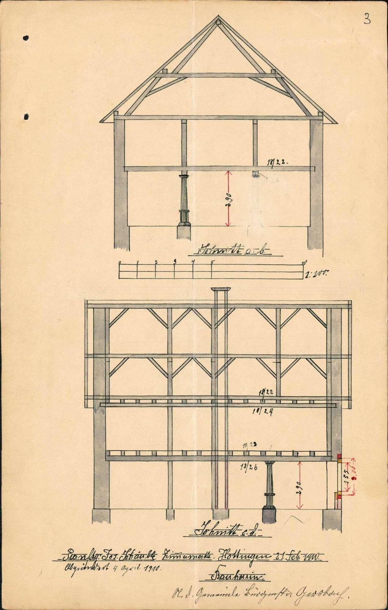 Bau und Unterhaltung des Schulhauses der Gemeinde Hottingen, Bild 3