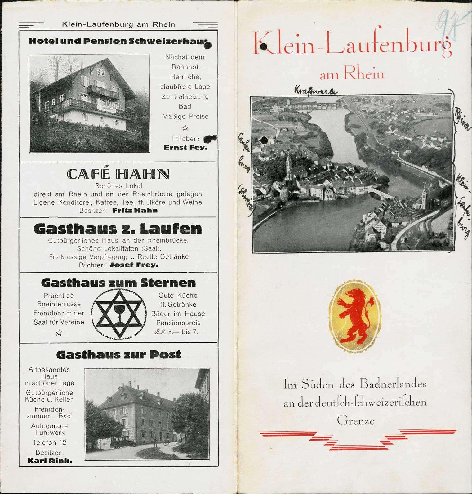 Vereinigung der Gemeinde Rhina mit der Stadt Kleinlaufenburg bzw. Laufenburg (Baden), Bild 1