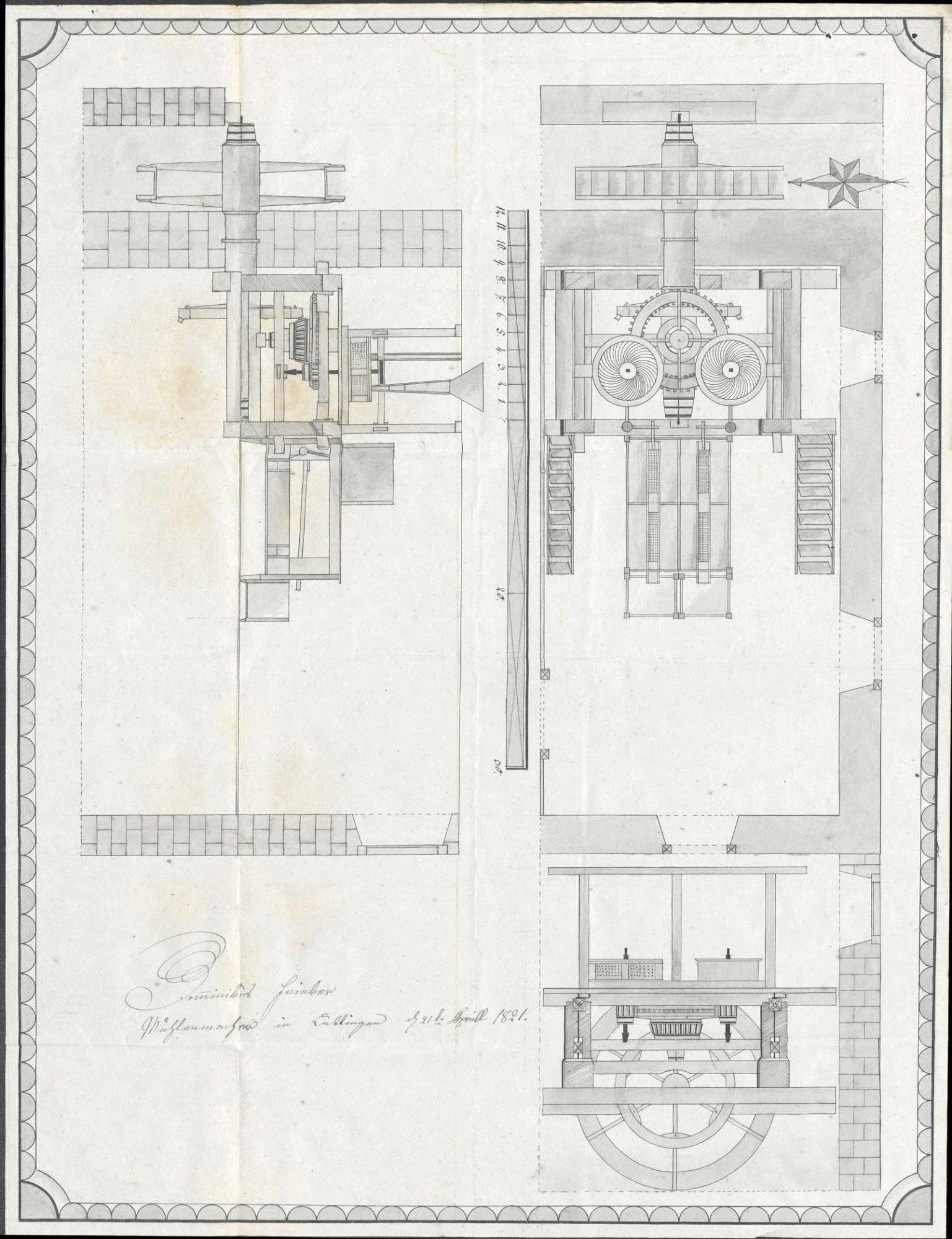 Baugesuch des Müllers Johannes Haas sen. von Kleinlaufenburg für eine Gerstenmühle, Bild 1
