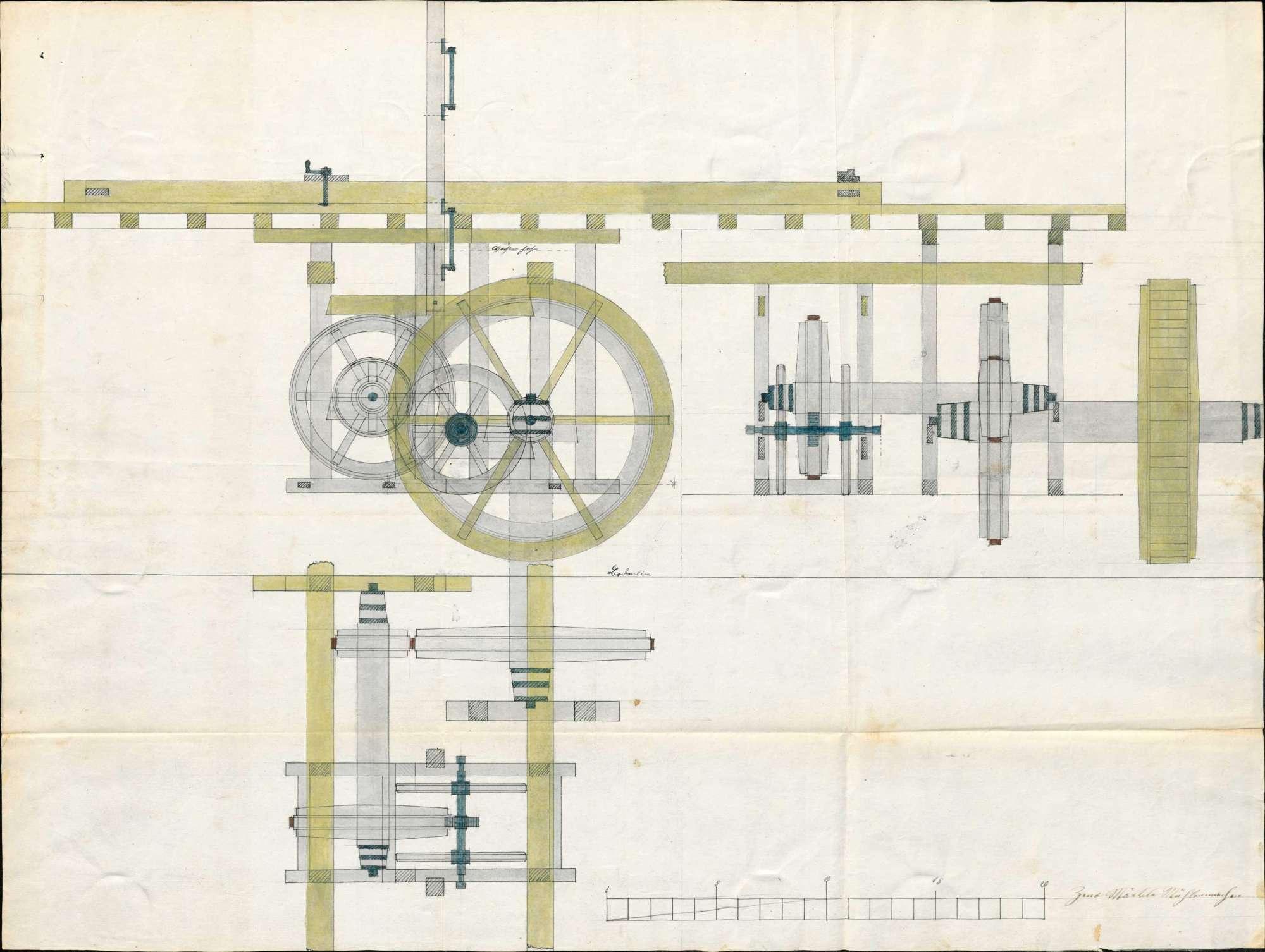 Baugesuch des Franz Joseph Haas von Kleinlaufenburg für eine Sägemühle am Andelsbach, Bild 1