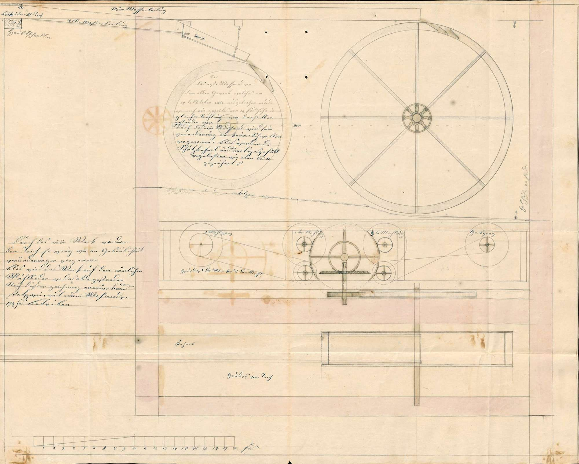 Bauliche Veränderungen an Wasserführung und Inneneinrichtung der Mahlmühle des Konrad Villinger in Kleinlaufenburg, Bild 2