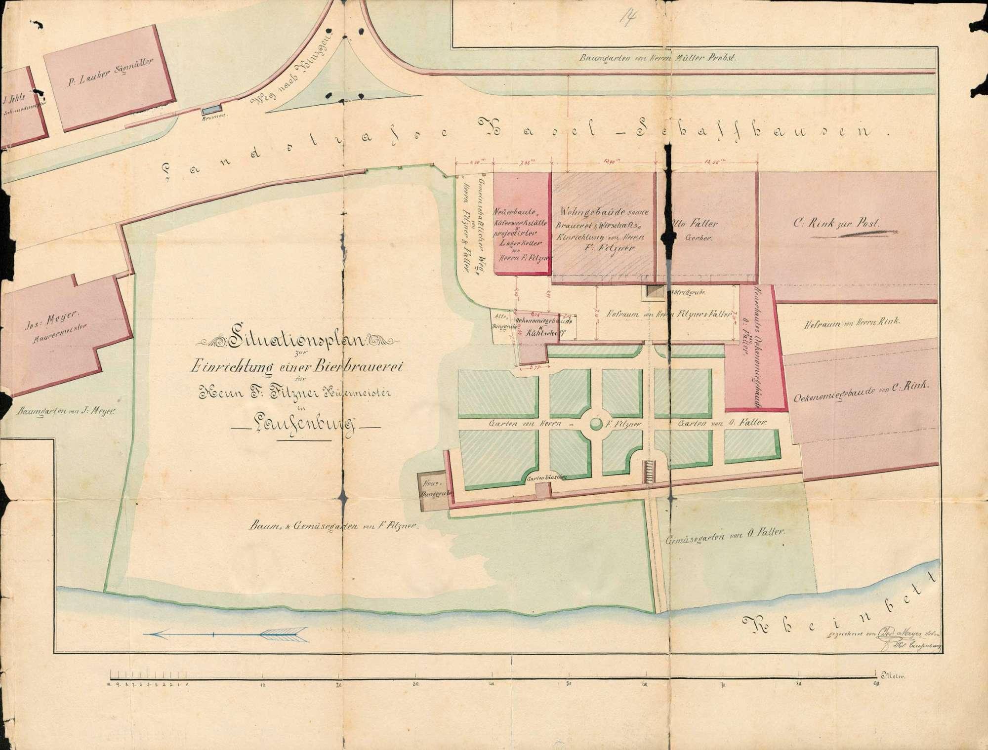 Konzessionierung und Betrieb der Schankwirtschaft Zur Brauerei Fitzner in Kleinlaufenburg bzw. Laufenburg (Baden), Bild 1