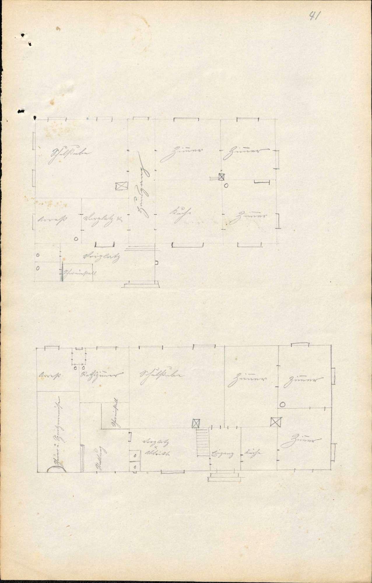 Bau und Unterhaltung des Schulhauses in Rickenbach sowie Herstellung von Ökonomiegebäuden beim Schulhaus, Bild 1