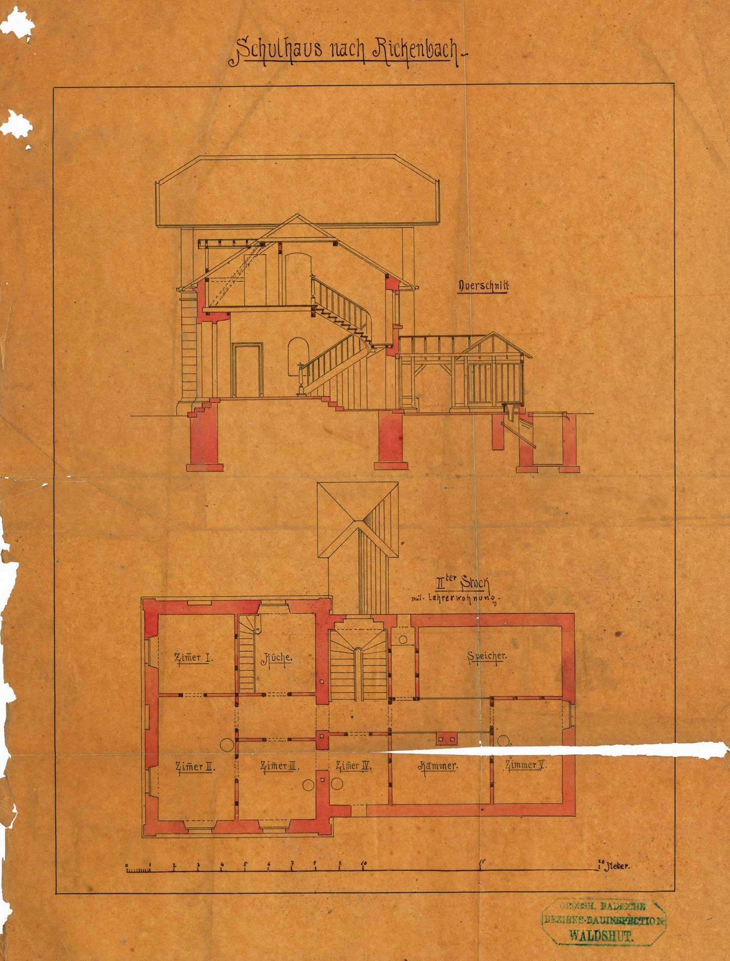 Bauliche Unterhaltung des Schulhauses in Rickenbach, Bild 2