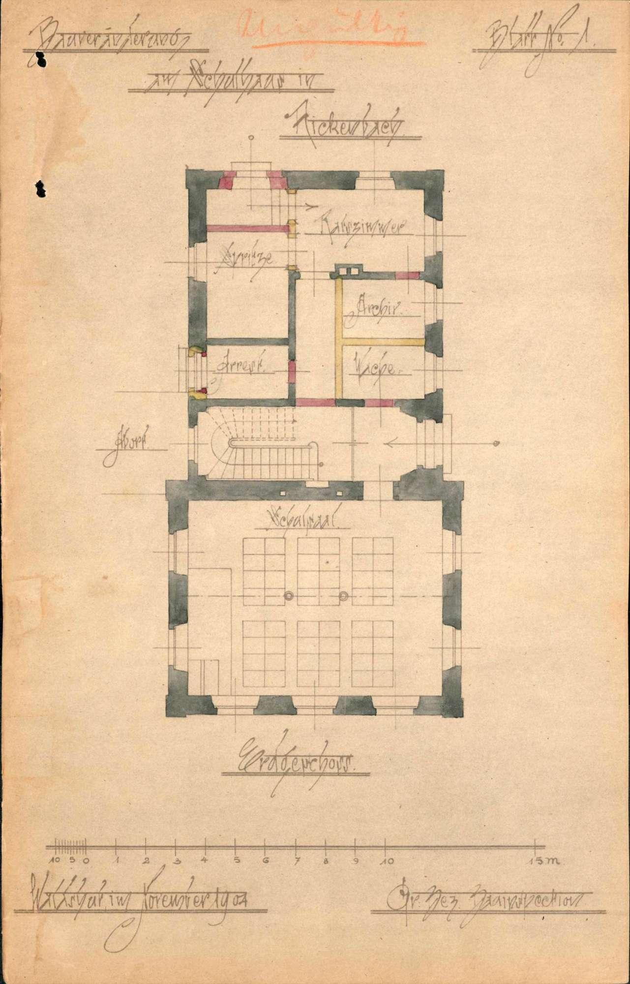 Bauliche Unterhaltung und Umbau des Schulhauses in Rickenbach, Bild 1