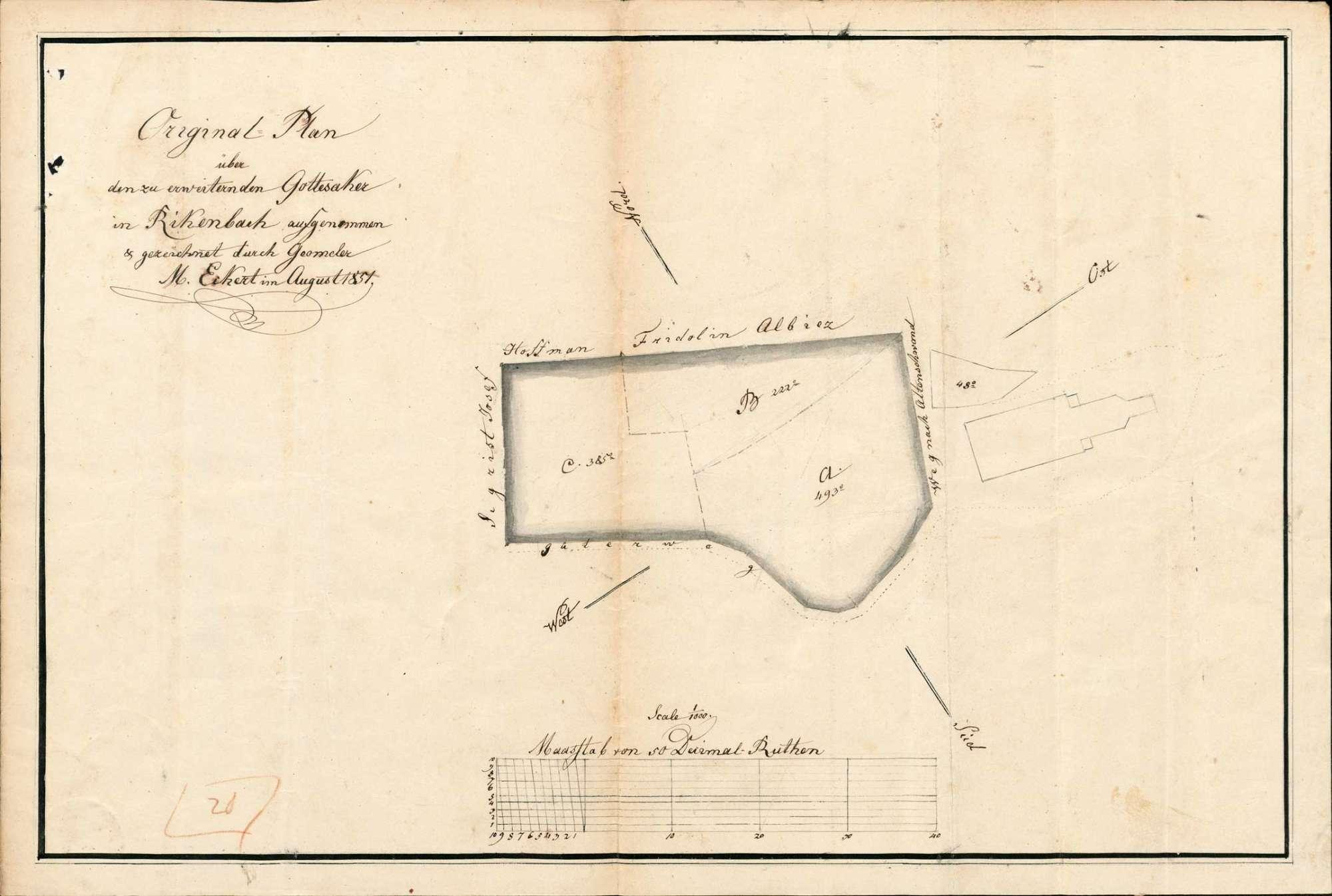 Erweiterung des Friedhofs sowie Herstellung und Unterhaltung der Friedhofsmauer in der Gemeinde Rickenbach, Bild 1
