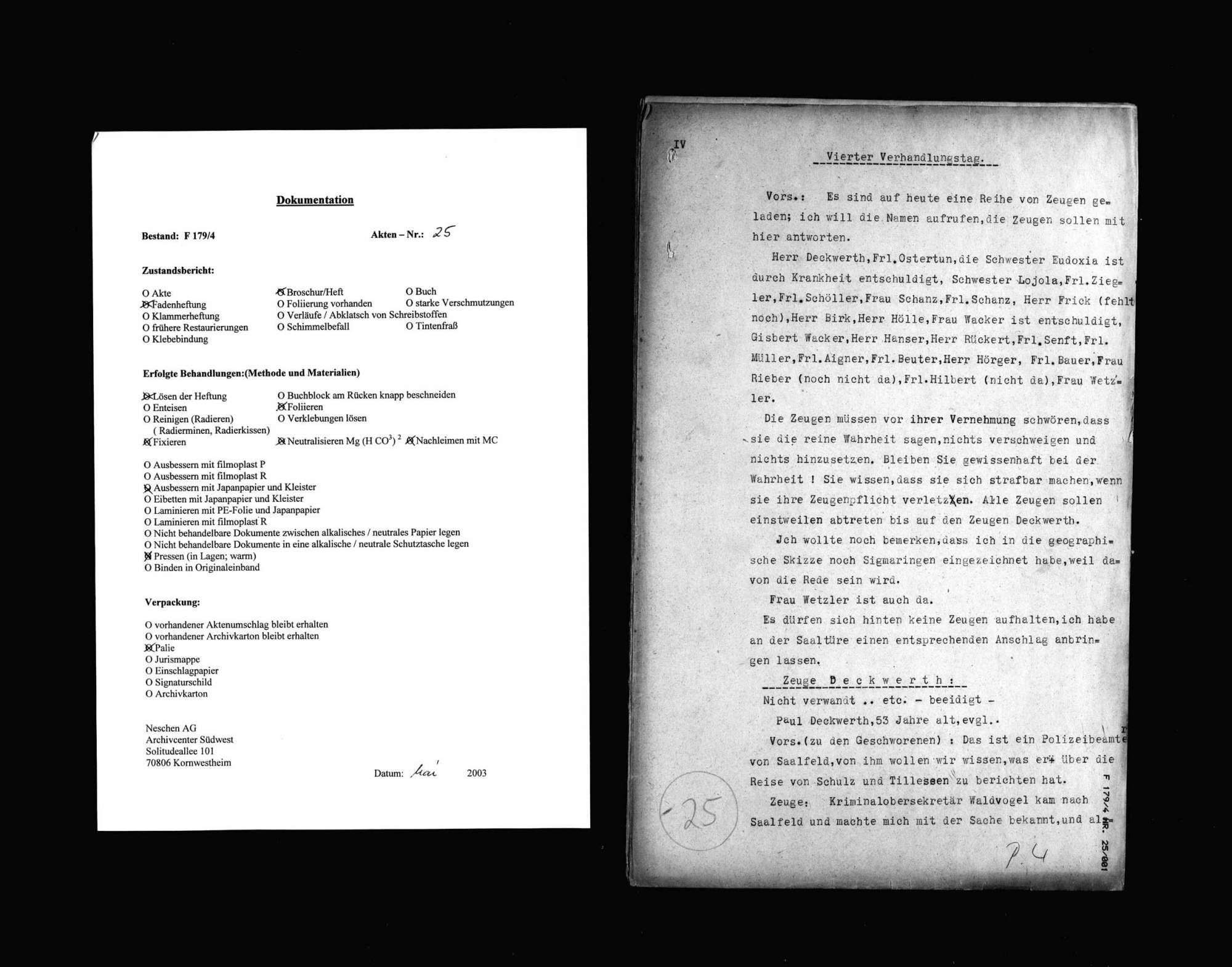 Protokolle der Hauptverhandlung gegen Manfred v. Killinger wegen Beihilfe zum Mord (4. Verhandlungstag, Tatortbesichtigung), Bild 1