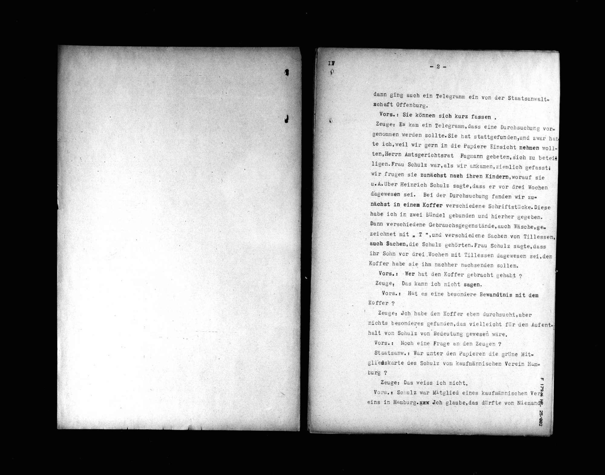 Protokolle der Hauptverhandlung gegen Manfred v. Killinger wegen Beihilfe zum Mord (4. Verhandlungstag, Tatortbesichtigung), Bild 2