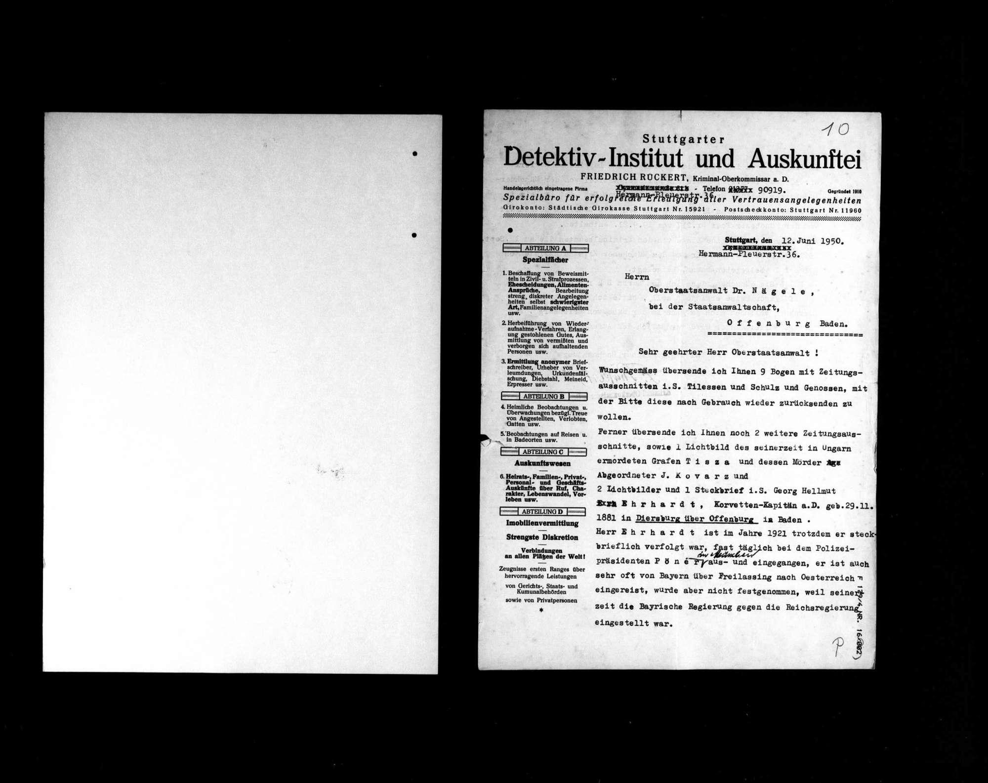 Zeitungsausschnitte über die Ermordung Matthias Erzbergers, Bild 2