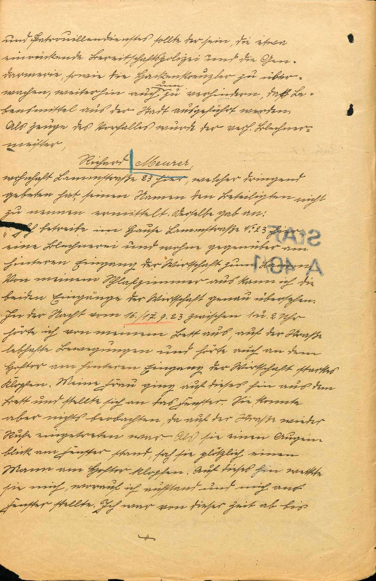 Untersuchung gegen Johann Georg Wirth und andere Personen, Lahr wegen Landfriedensbruch (Beteiligung an den kommunistischen Unruhen in Lahr, Nov. 1923), Bild 2