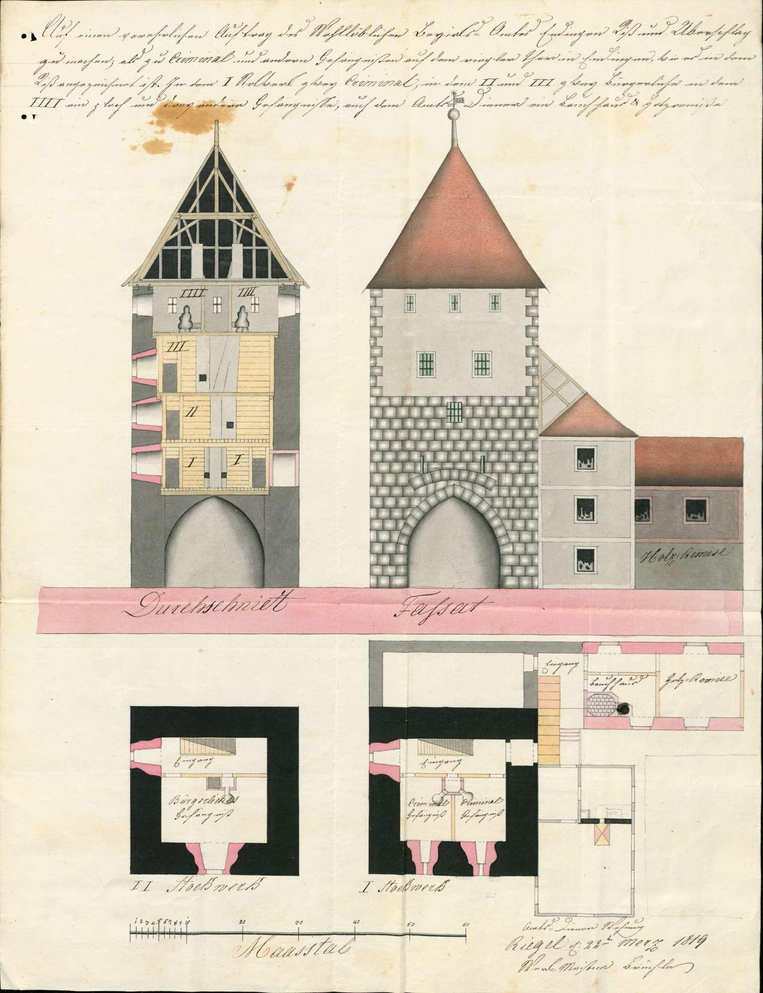 Bau eines Gefängnisses in Endingen, Bild 1