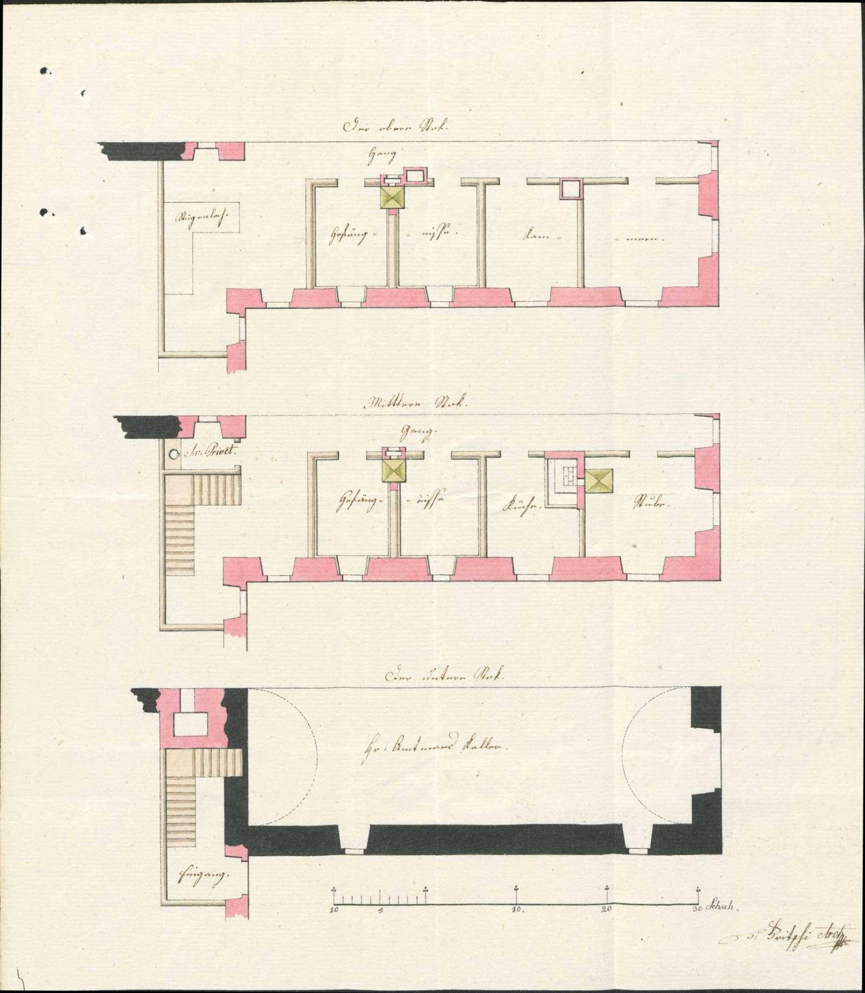 Bausachen; Kriminal- bzw. Amtsgefängnis in Schönau; Band 1, Bild 3