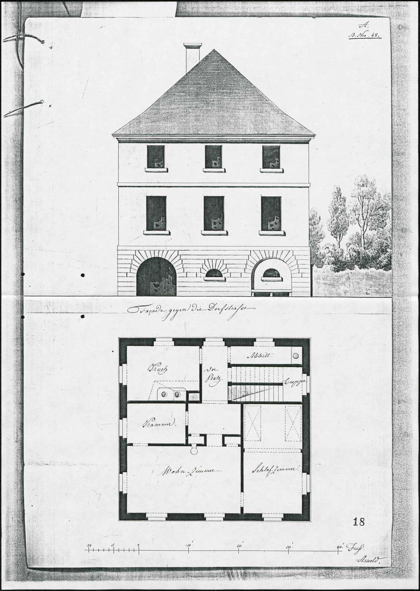 Schulhausbau in Buchheim, Bild 1