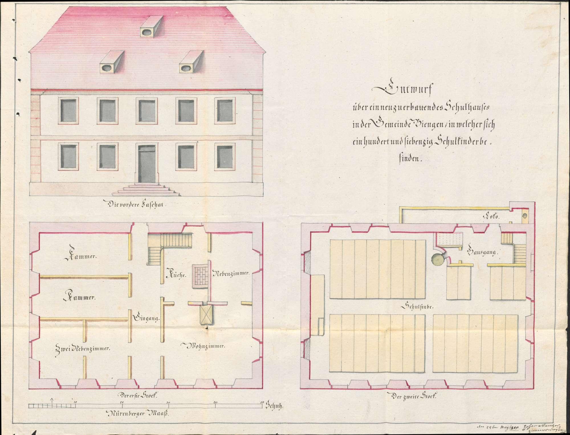 Schulhausbau in Biengen, Bild 2