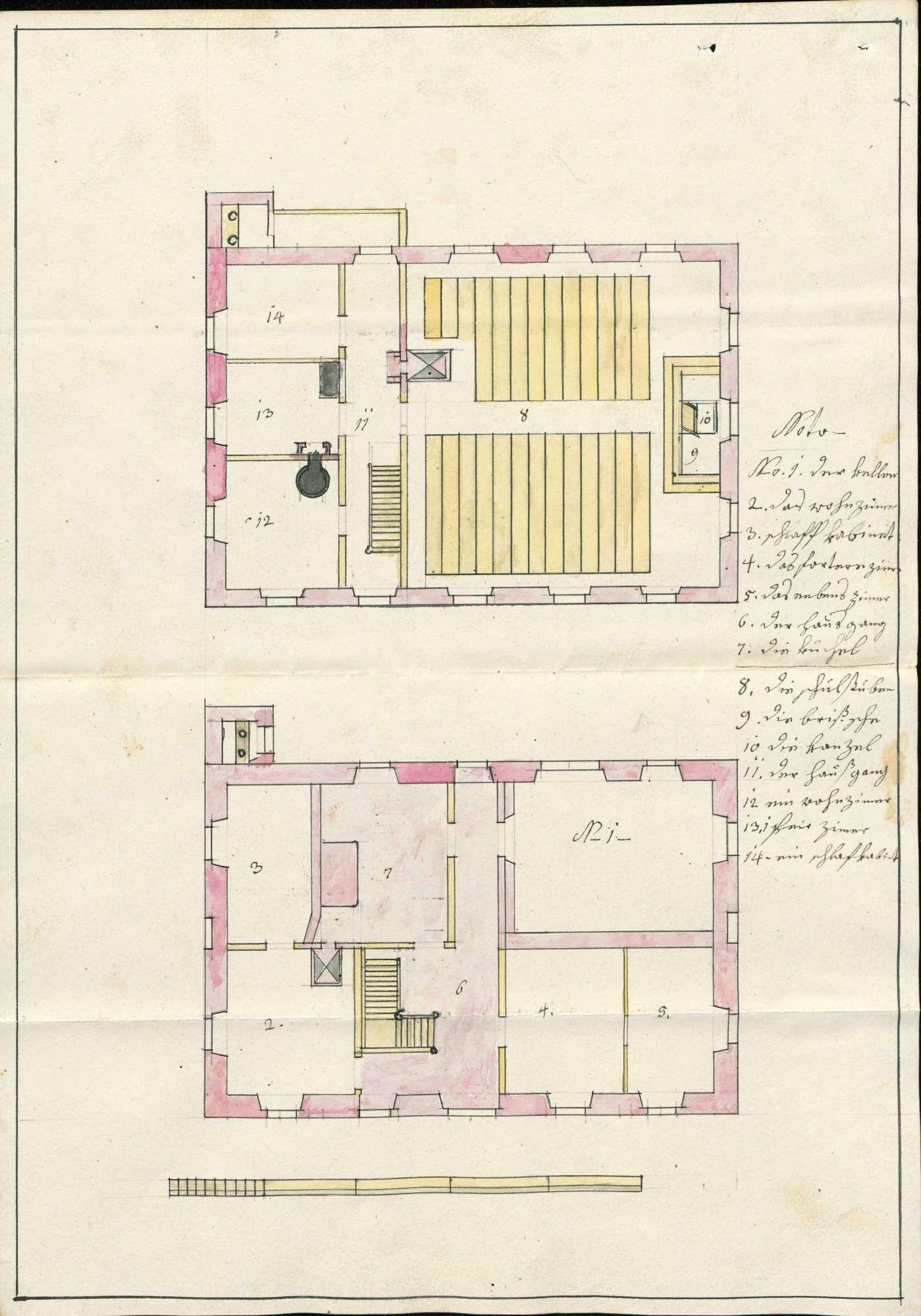 Schulhaus in Bötzingen; Versetzung der Schule von Obeschaffhausen nach Bötzingen, Bild 1