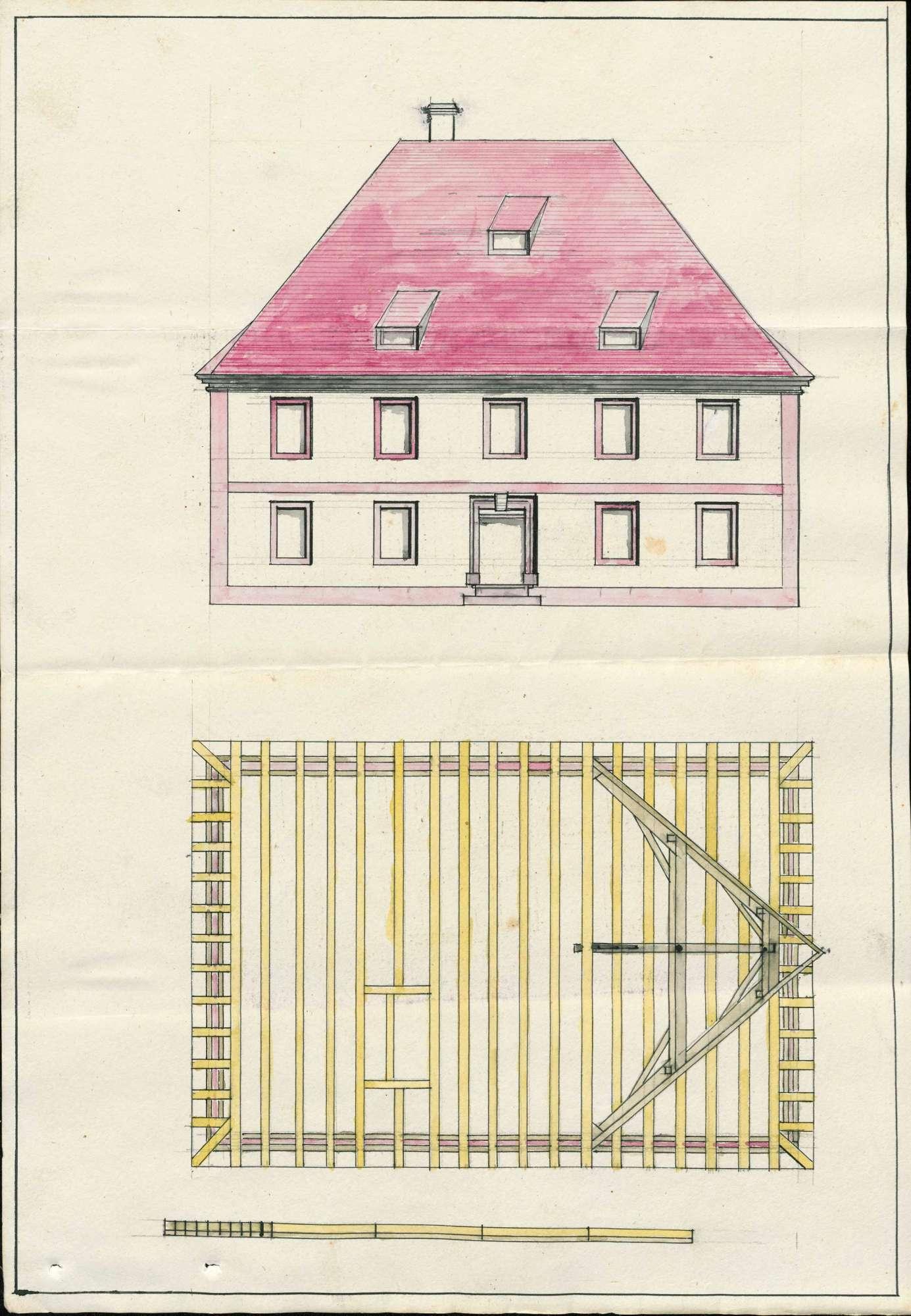 Schulhaus in Bötzingen; Versetzung der Schule von Obeschaffhausen nach Bötzingen, Bild 2
