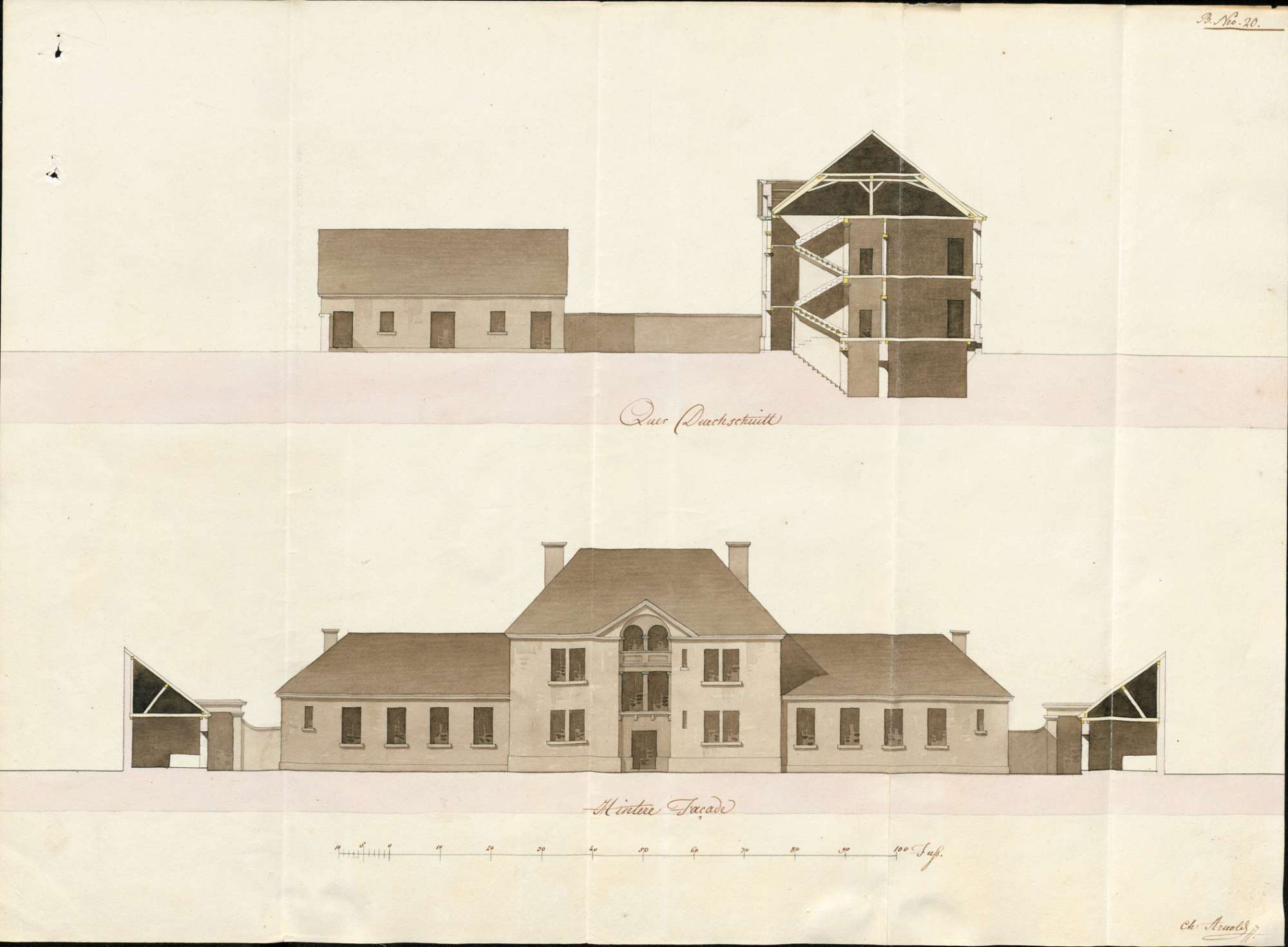 Knaben- und Mädchenschulhausbau in Emmendingen; Einrichtung von Schulräumen im Amthaus bzw. im Landvogteigebäude, Bild 2