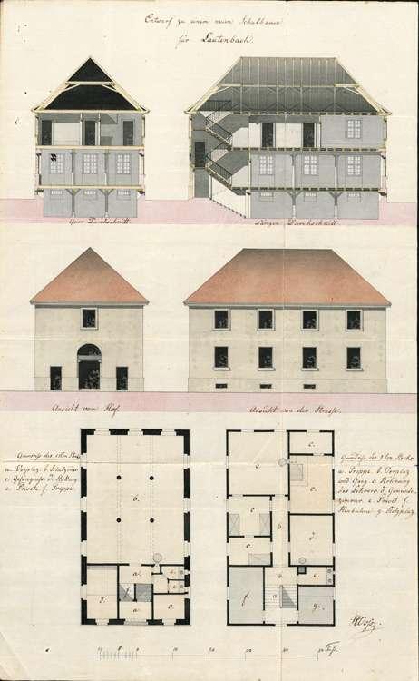 Bau eines Schulhauses in Lautenbach; Schuldienst in Lautenbach, Bild 1