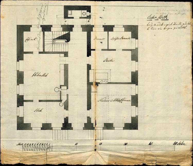 Bau des Pfarrhauses zu Sasbach, Bild 1