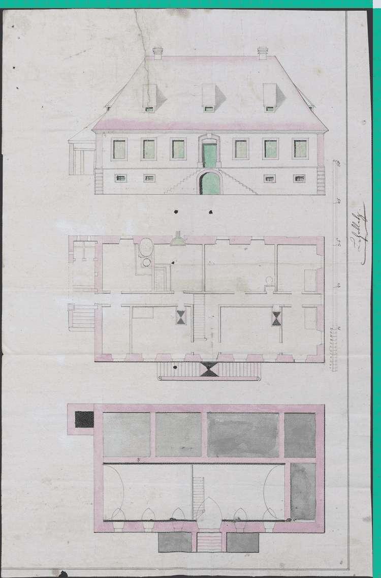 Baureparationen am Pfarrhaus in Schlatt, Bild 1