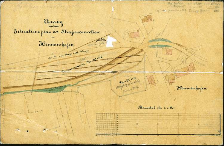 Anlage einer Höristraße in Hemmenhofen bzw. Abtretung ärarischer Güter hierzu, Bild 1