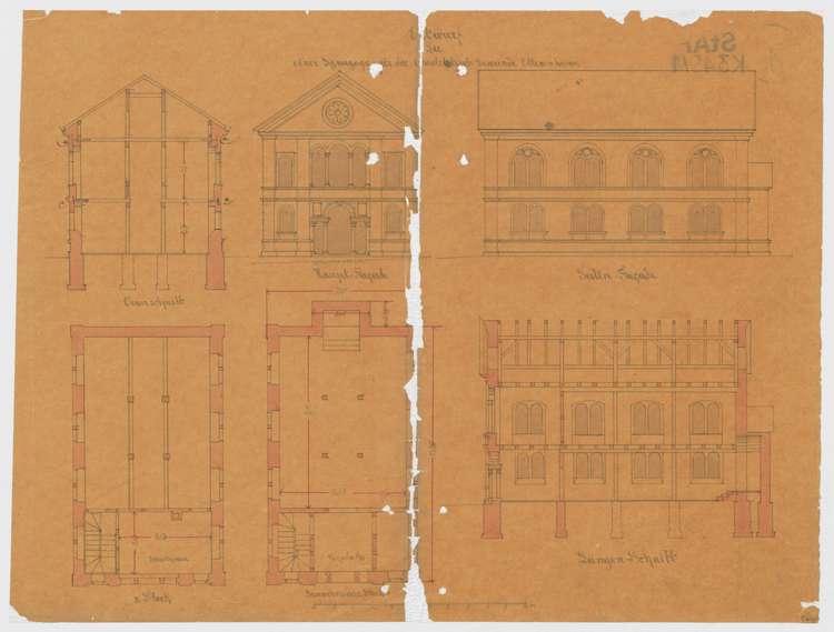 Entwurf einer Synagoge für die israelitische Gemeinde Ettenheim, Bild 1
