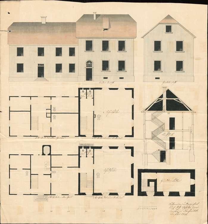 Schulhausbau zu Lichtenau, Bild 1
