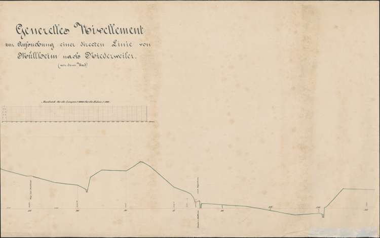 Generelles Nivellement zur Aufsuchung einer direkten Linie von Müllheim nach Niederweiler, r