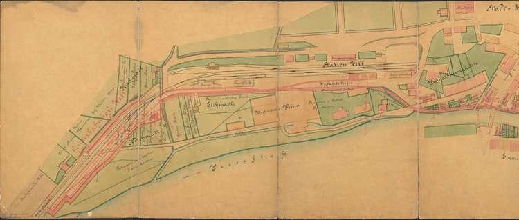 Bau der Schmalspurbahn Zell-Todtnau; Situationsplan, 1.vl