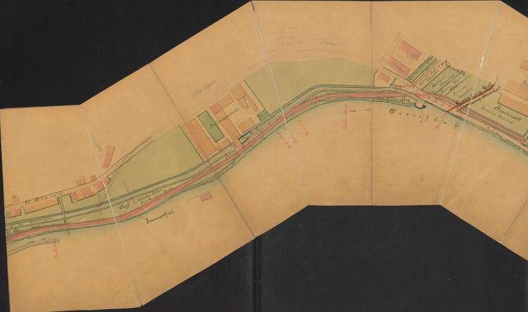 Bau der Schmalspurbahn Zell-Todtnau; Situationsplan, 3.vl