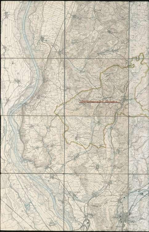 Karte über das Gebiet der Jadgenossenschaft Kandern, l