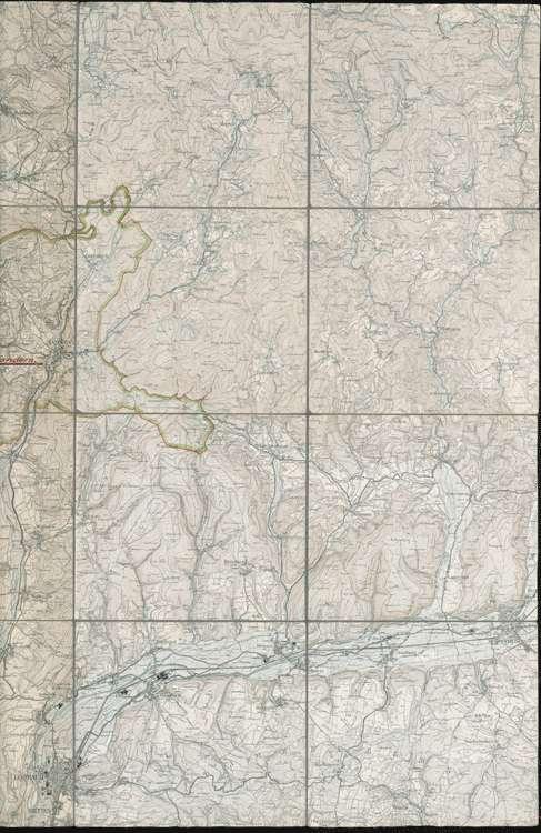 Karte über das Gebiet der Jadgenossenschaft Kandern, r