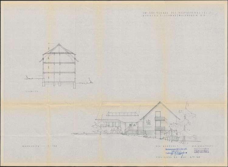 Um- und Erweiterungsbau des Hochkopfhauses des Schwarzwaldvereins Freiburg auf Gemarkung Präg; Nordseite, Bild 1