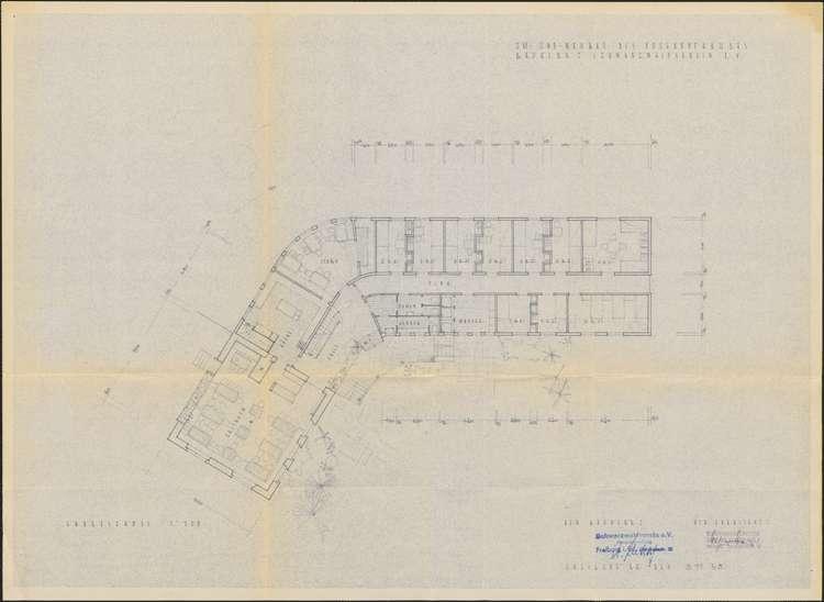 Um- und Erweiterungsbau des Hochkopfhauses des Schwarzwaldvereins Freiburg auf Gemarkung Präg; Grundriss Erdgeschoss, Bild 1