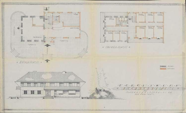 Um- und Erweiterungsbau des Hochkopfhauses des Schwarzwaldvereins Freiburg auf Gemarkung Präg; Vorentwurf, Bild 1