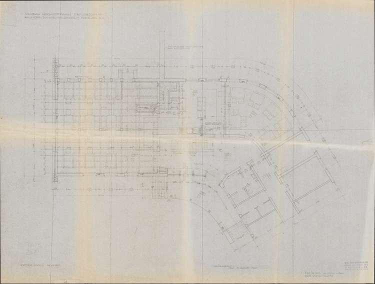 Um- und Erweiterungsbau des Hochkopfhauses des Schwarzwaldvereins Freiburg auf Gemarkung Präg; Pläne zum Baugesuch, Bild 1