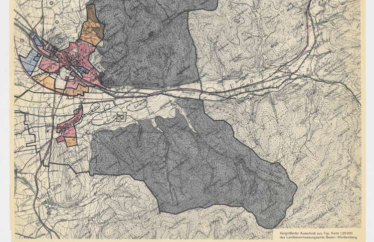 Agrarstrukturelle Vorplanung Staufen - Ehrenstetten und Umgebung; Ausschnitt aus der topografischen Karte, u