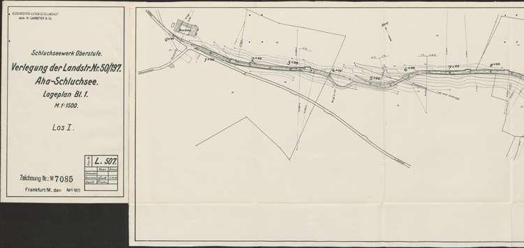 Schluchseewerk Oberstufe; Verlegung der Landstraße 50/197 Aha - Schluchsee; Los I, l