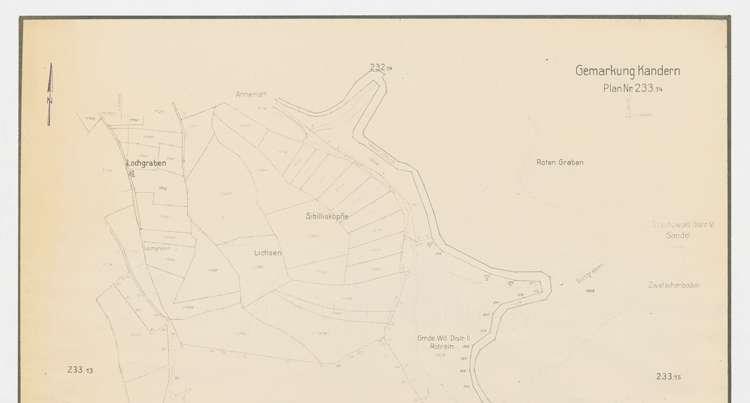 Gebietspläne Kandern, 1:2000, o
