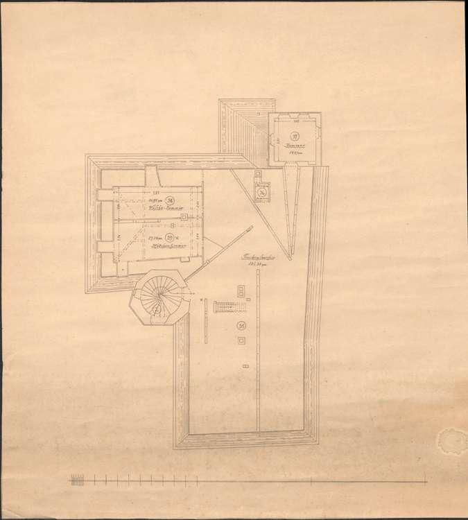 Garteneinfriedung und Häuser in Staufen, Bild 1