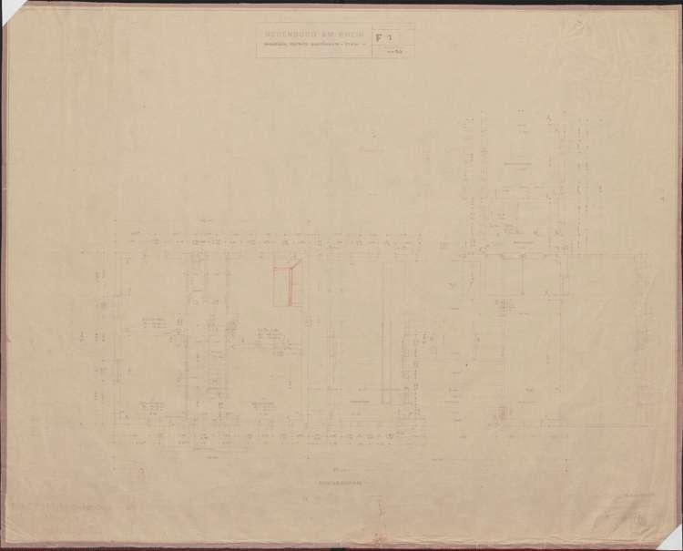 Wiederaufbau des Anwesens Alfred Grozinger-Stein; Neuenburg am Rhein; Grundriss Erdgeschoss, Bild 1