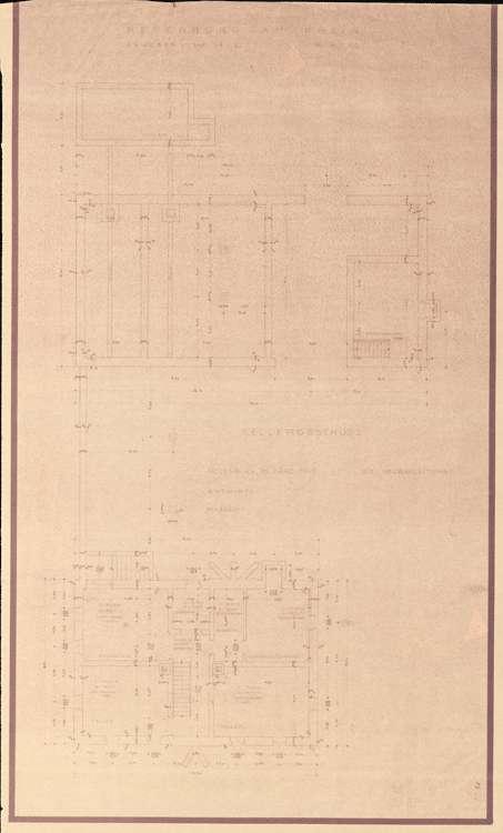 Wiederaufbau der Neubauten Typen W1R und W1L; Neuenburg am Rhein; Grundrisse Kellergeschoss, Bild 1