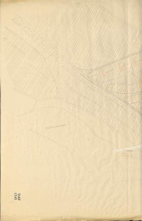 Wiederaufbau Neuenburg; Lageplan; gef. v. Bad. Ministerium des Innern, 1:1000, 1.vl