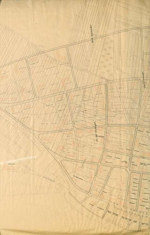 Wiederaufbau Neuenburg; Lageplan; gef. v. Bad. Ministerium des Innern, 1:1000, 2.vl