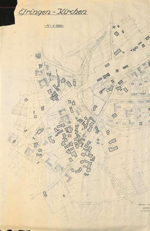 Wiederaufbau Efringen-Kirchen; Lageplan 1:1000, 1.vl